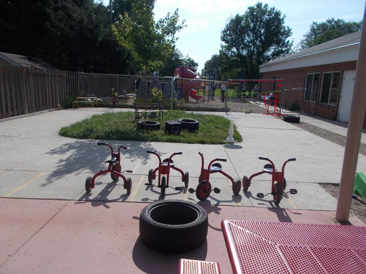 Our Trike Track The Preschool Playground With A Natural