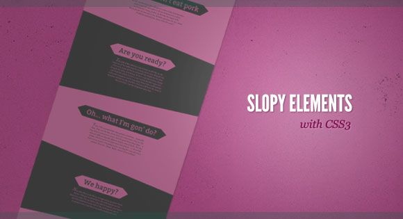 SlopyElements. http://tympanus.net/Tutorials/SlopyElements/