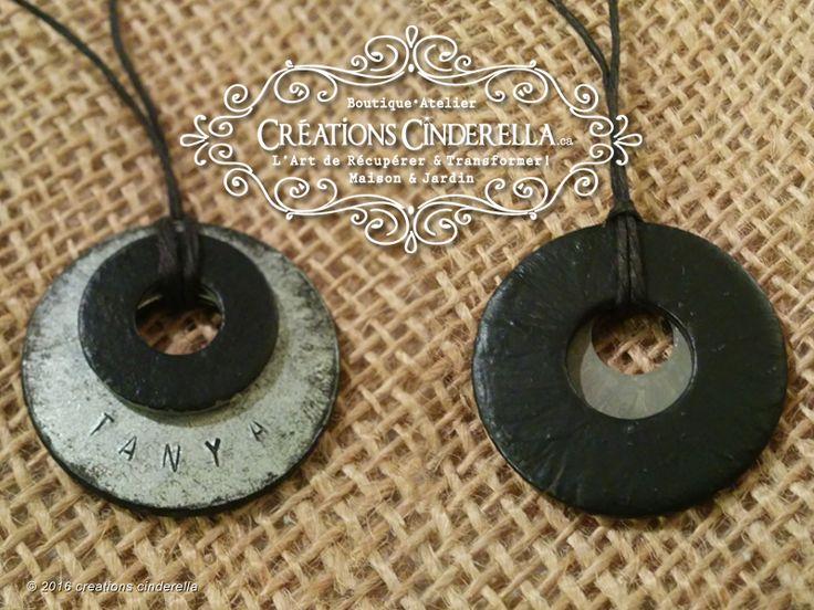 """Quoi faire avec les """"washers"""" rondelles de métal plate? Des bijoux!!! :)  Je me suis amusé à fabriquer et créer un cadeau spécial pour offrir à ma nièce."""