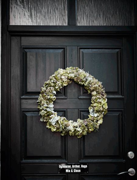 jul dør krans dekoration dørkrans diy // christmas front door decoration wreath