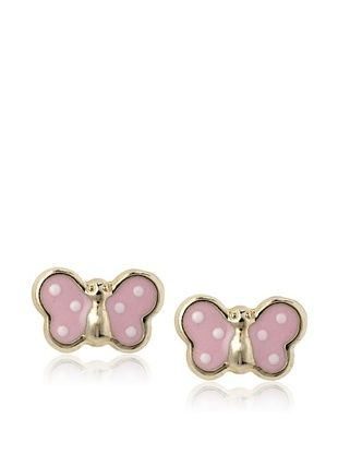 35% OFF Mindy Harris Pink Butterfly Screw Back Earrings