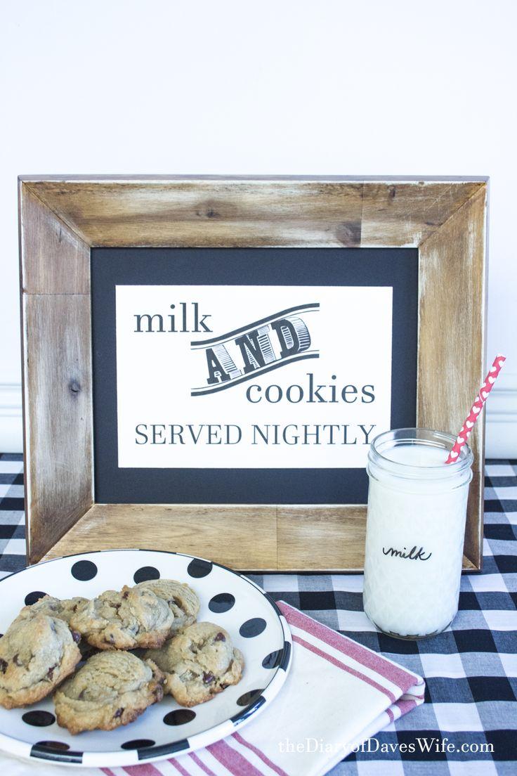 Cookies and Milk Free Printable