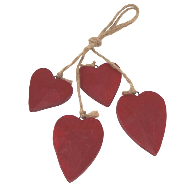 Red Ruby Collection Wooden Hearts on String £2.99 #dunelm #heart #valentine #home