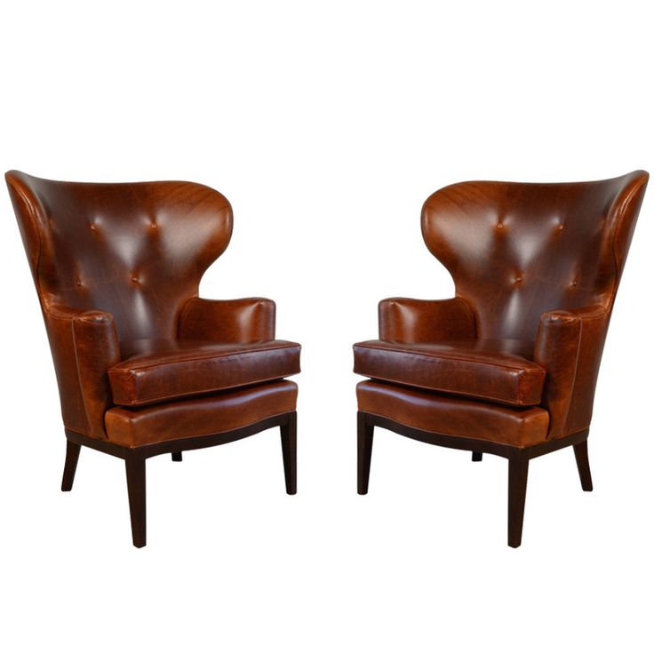 Early Wingback Chairs by Edward Wormley for Dunbar, circa 1940s | From a  unique collection