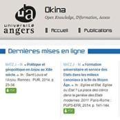 Les derniers travaux des chercheurs de l'Université d'Angers sont désormais librement accessibles en ligne, grâce à la plate-forme numérique d'archive ouverte Okina.