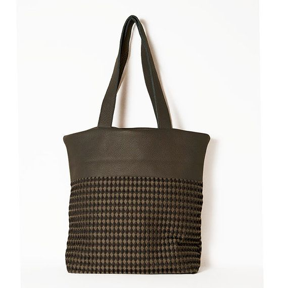 #Hobo_chic. #Boho_tote. #Large_leather bag. City fine by ElenaVandelliBags