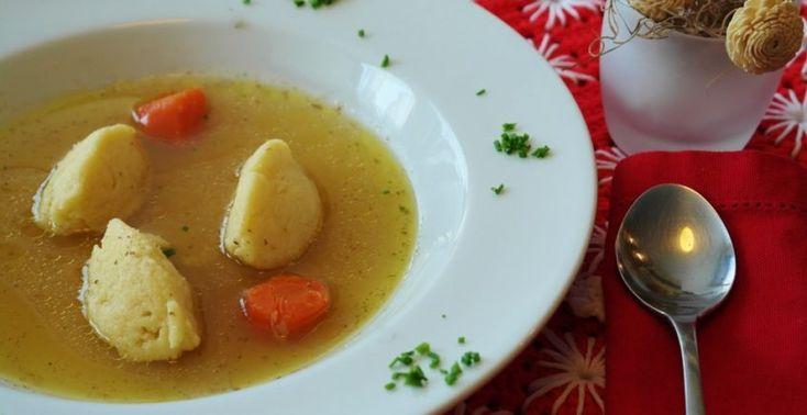 Zeleninová polievka s domácimi knedličkami - Receptik.sk