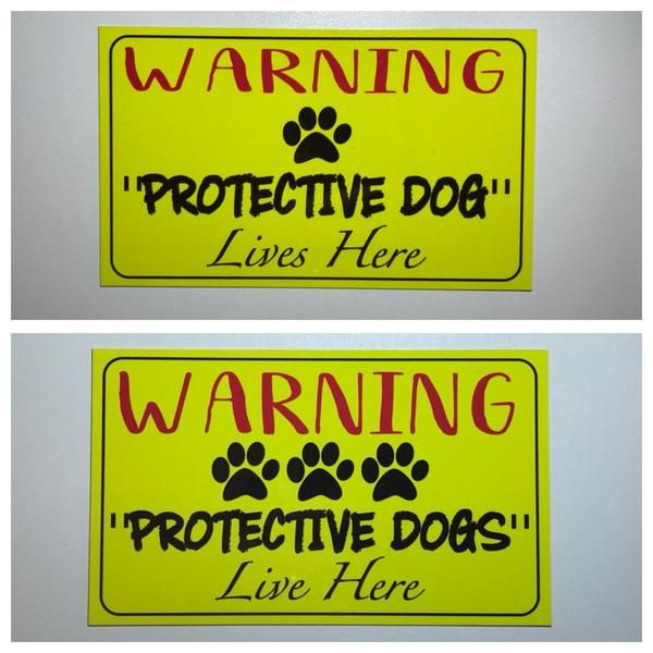Warning Protective Dogs or Dog Live Here Sign Plaque Hanging Gate Farm – The Renmy Store