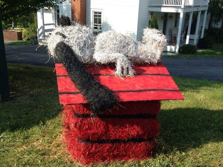 Snoopy Hay Bale Decoration