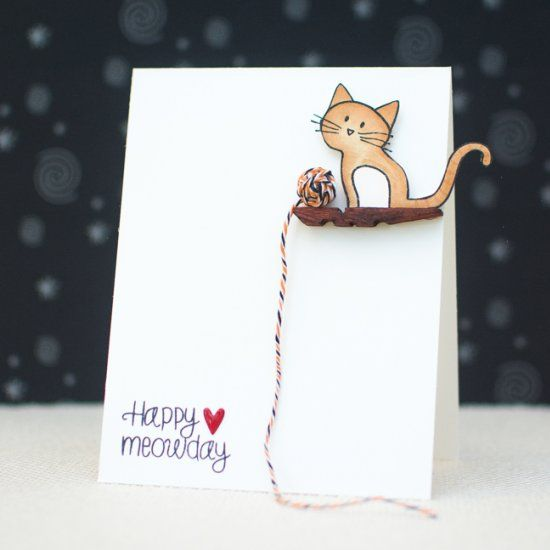 Learn how to create a clean and simple greeting card using household items with photo tutorial.