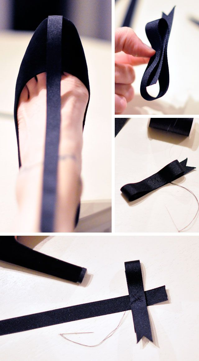 todo el proceso en: http://www.lovemaegan.com/2014/11/diy-holiday-shoes-pretty-t-straps-with-ankle-bows.html