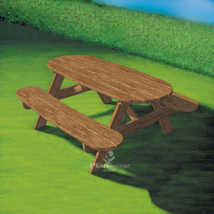 Les 25 meilleures id es concernant plans de table de pique for Table exterieur rona