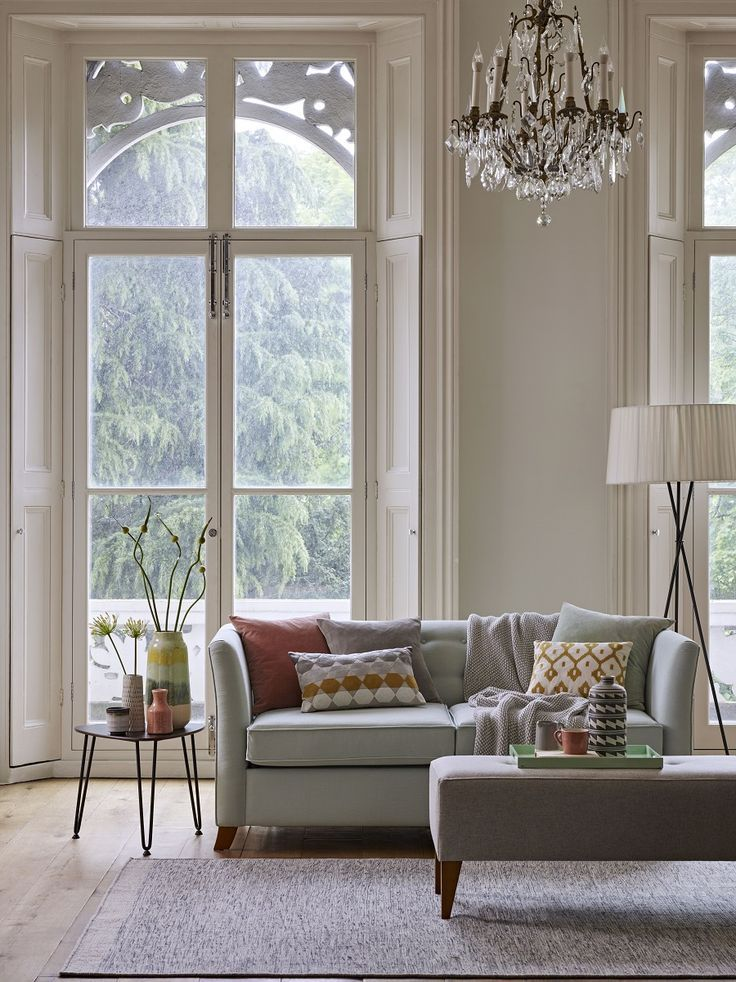 An Elegant Sitting Room In Calming Colours Home Decor Scandi