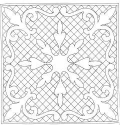 """I could asolutely see this as a """"quilt as you go pattern"""" 16.5 in square stencil"""