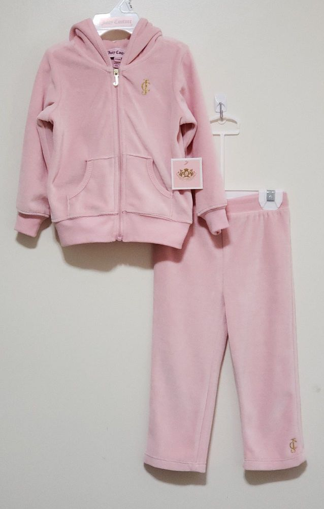 4507bae0f NWT Juicy Couture Baby Girl 12-18 M Blush 2 Pc Velour Jogging/Track/Warm Up  Suit #JuicyCouture #Tracksuit #DressyEverydayHoliday