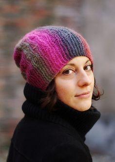 Woolly Wormhead - Marina - sideways slouchy Hat knitting pattern