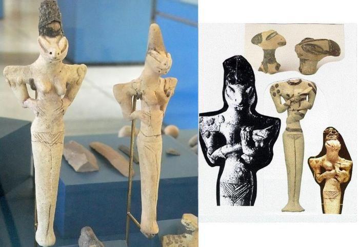 В Ираке находят странные статуэтки Убайд. Они изображают ящероподобных и змееподобных людей в различных позах. Все статуэтки имеют аномально удлиненные головы и миндалевидные глаза. Многие из этих фигурок находят в захоронениях людей, поэтому, полагают, что они отмечают некую форму статуса.