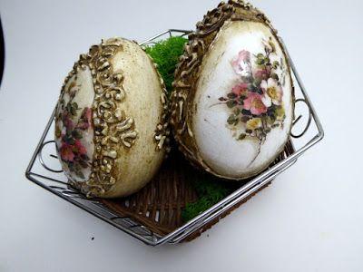 Świat Decoupage -  Mój magiczny Świat : jaja z reliefami