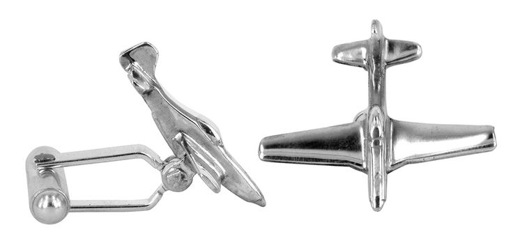 P51 mustang cufflinks in sterling silver