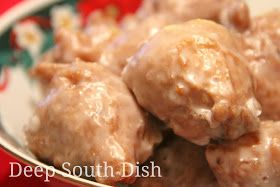 A traditional Mississippi Gulf Coast Christmas treat, this is my small batch version of pusharatas - a heavily spiced, drop fritter, made with apple, orange and lemon, raisins and pecans, and deep fried and finished with a dip in a thick powdered sugar glaze.