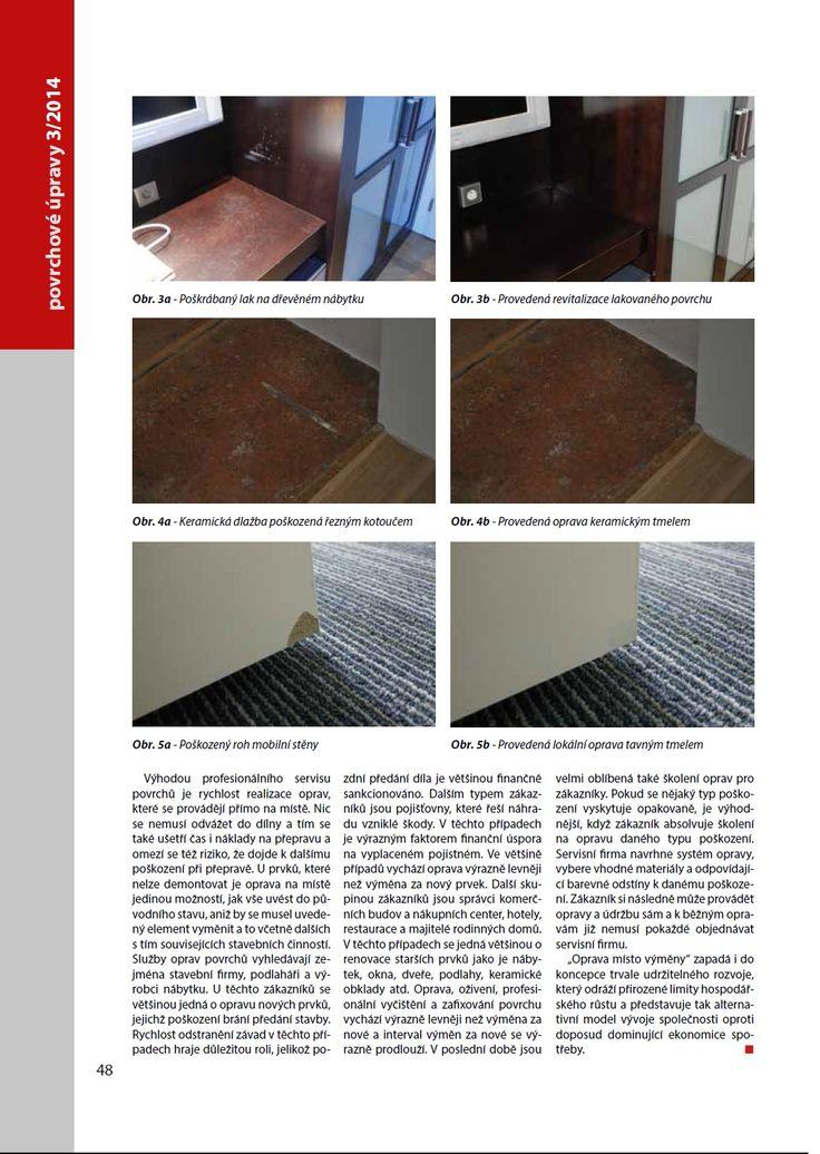 oprava místo výměny, oprava povrchů, povrchové úpravy
