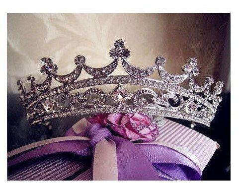 Bridal Tiarabridal crownRoyal Bridal by MissMiaJewelry on Etsy  $89.00