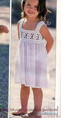 Delicadezas en crochet Gabriela: Canesú de vestido de niña