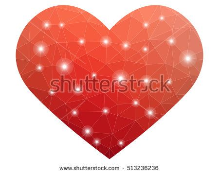 Heart vector - Law polygon illustration