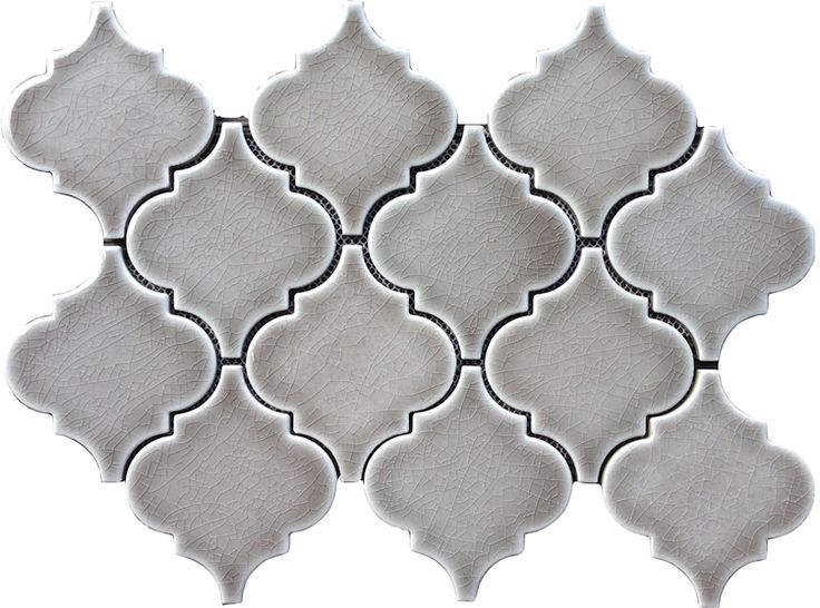 Best Dove Gray Arabesque Glazed Porcelain Mosaic Tile The 640 x 480