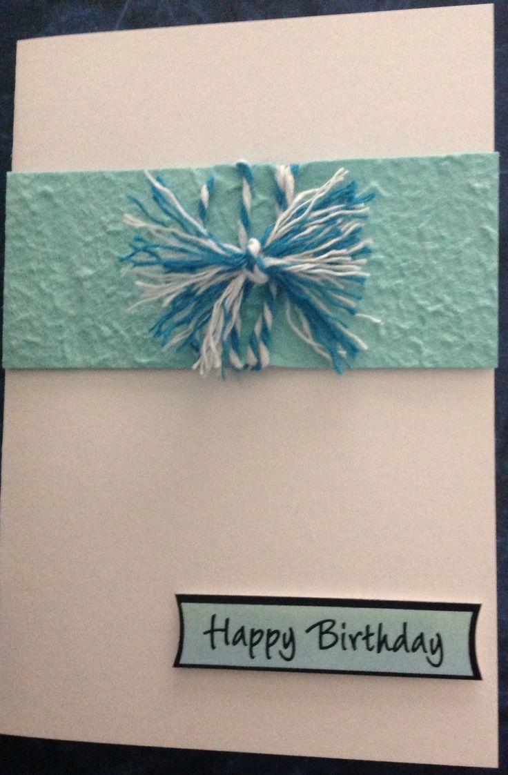 Aqua Birthday card for Aunty Pat.