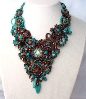 Beadwork necklace by Ibolya