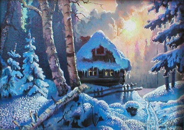 Северные пейзажи,картины разных художников