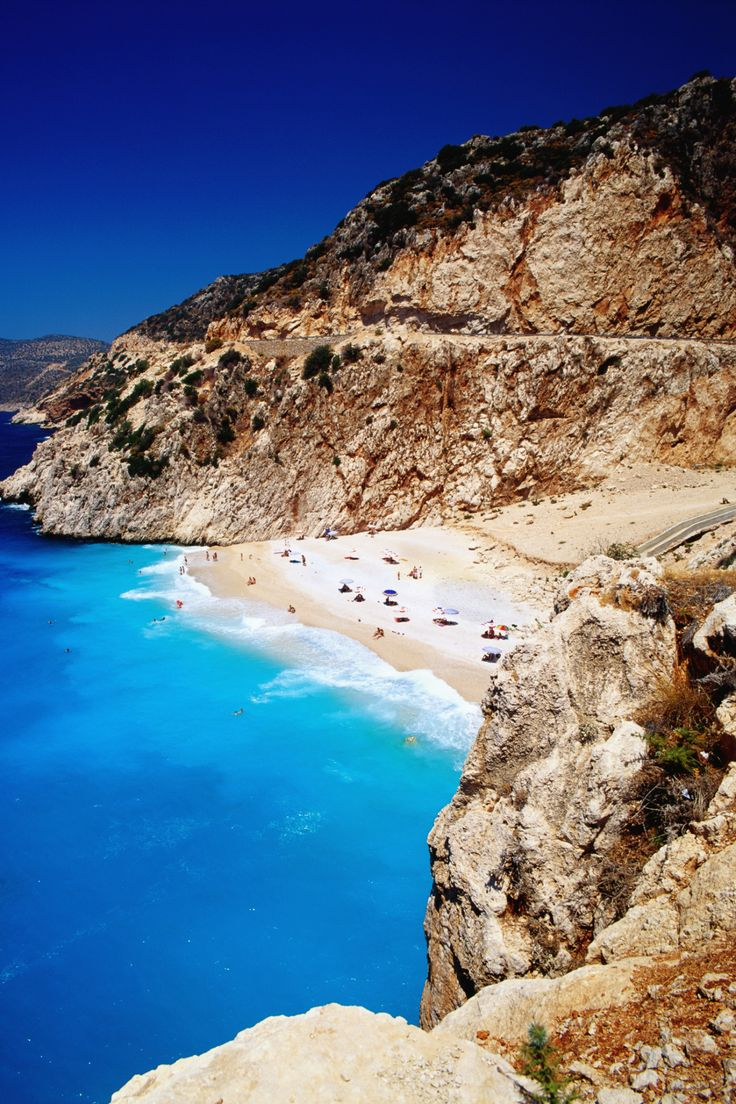 Greece and Italy might get more attention when it comes to Mediterranean beaches, but Turkey's southwestern coast is home to some beautiful options including the small sandy cove at Kaputas Beach.