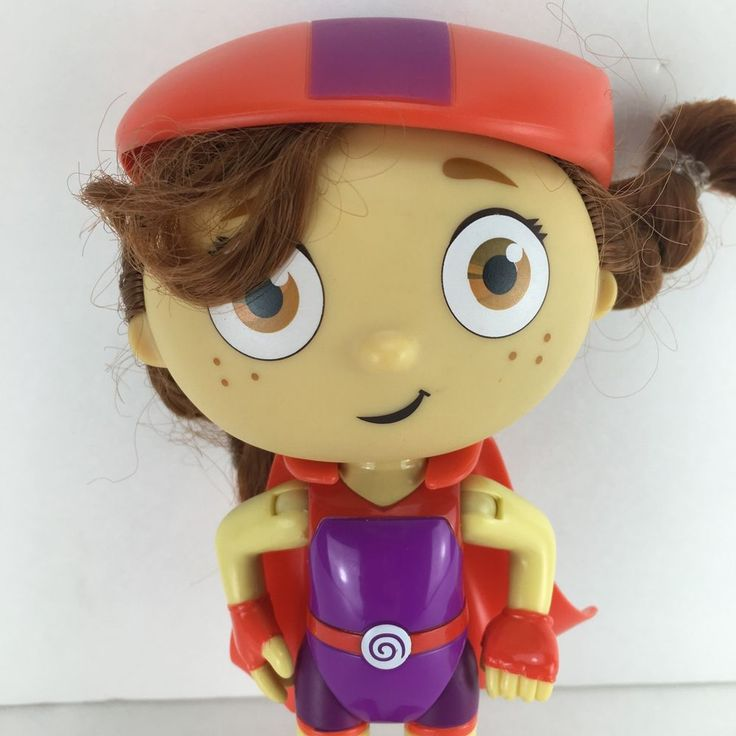 "PBS Super Why Wonder Red 6"" Tall Poseable Action Figure Only Learning Curve 