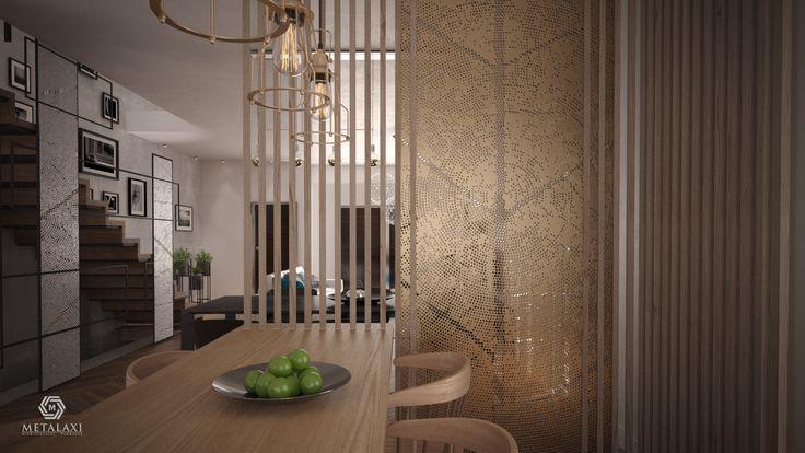 ΔΙΑΧΩΡΙΣΤΙΚΑ ΑΛΟΥΜΙΝΙΟΥ  Partinioning made of perforated aluminium. Innovative Architectural Products. Life is in the details. www.metalaxi.com