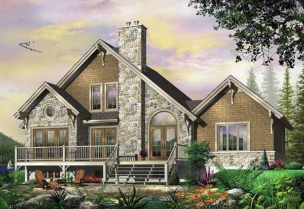 House plan 1161 is a perfect home for the countryside or a for House plans for narrow lots on waterfront