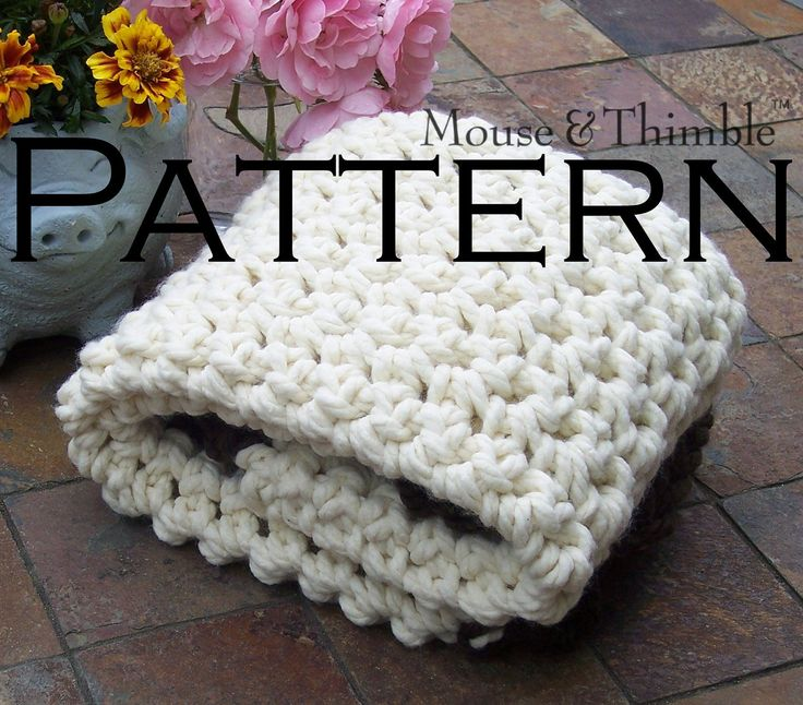 Crochet Stitches For Chunky Yarn : Baby Chunky Afghan Throw - Crochet PATTERN PDF 3224. $3.95, via Etsy ...