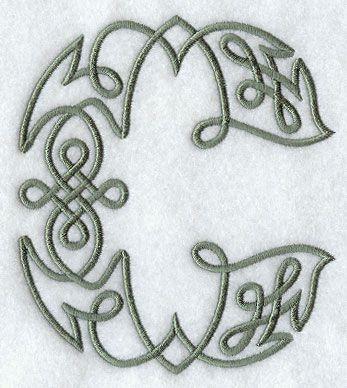 Celtic Knotwork Letter C - 5 Inch