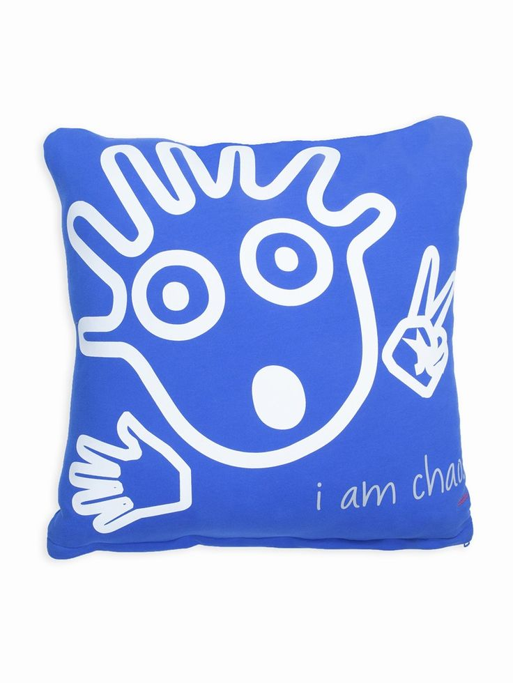 Decorate Youre With I Am Chaos Ll Victoria Blue Decorative Pillow Peaceloveworld