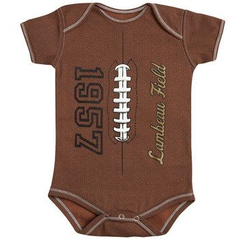 Where was this when my boys were babies?  This is so stinkin' cute!!!   Green Bay Packers Lambeau Field MVP Creeper