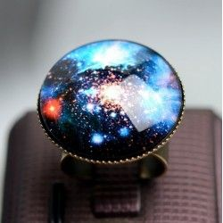 Винтажное кольцо Галактика