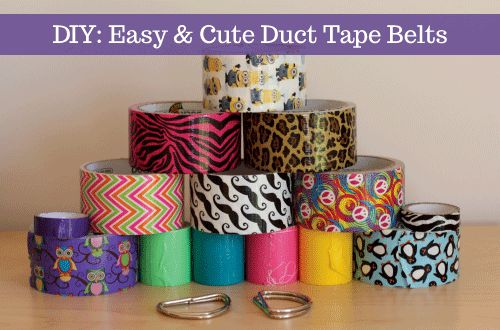 DIY: easy & cute duct tape belts