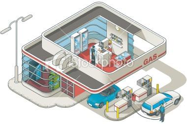 stock-illustration-22831112-isometric-gas-station.jpg (380×252)