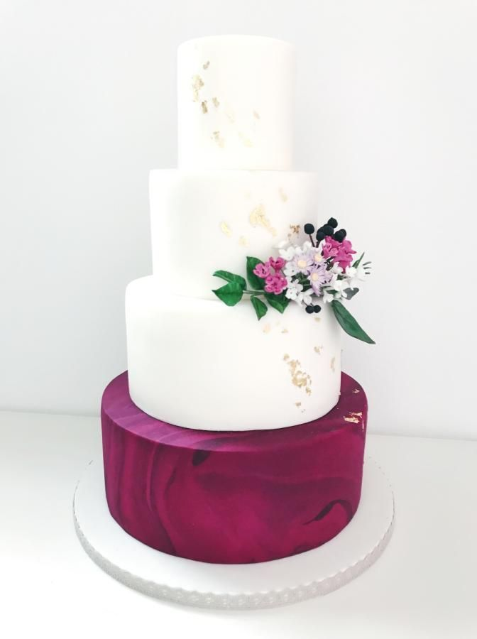 wedding cake design inspired by flower bouquet and wedding dress thank you for looking