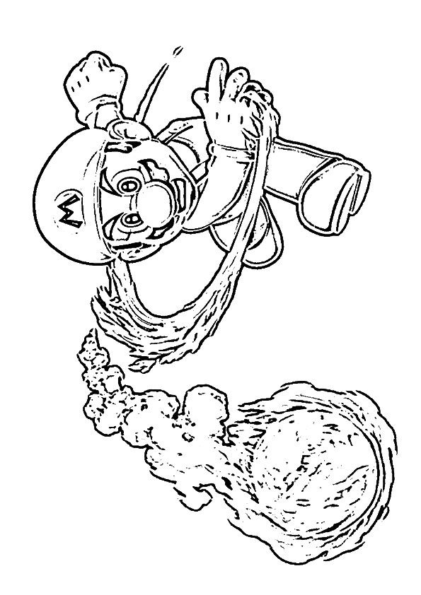 fireball mario coloring pages - photo#17