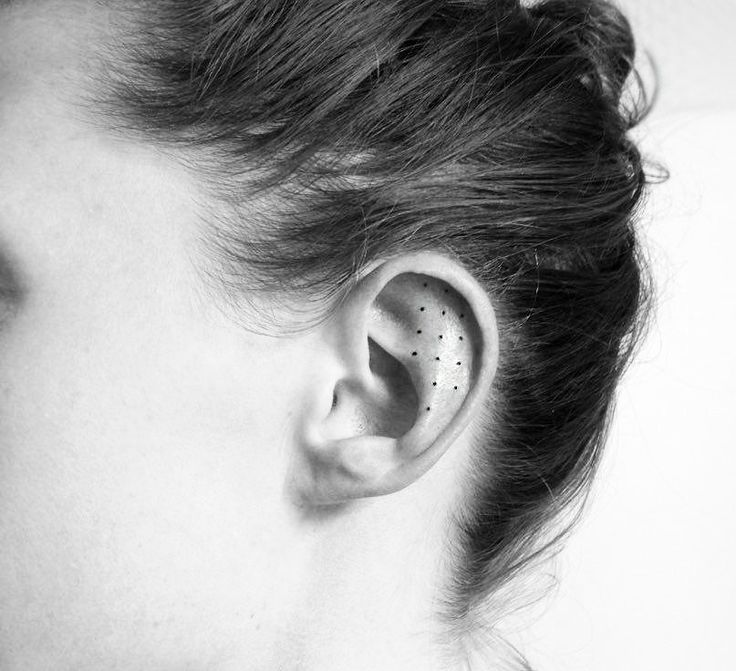 Who needs earrings when you have tiny tattoos this cute?