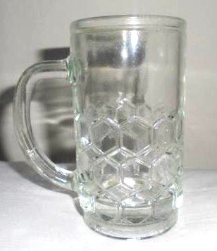 """Honey"" glass mug - Hungarian retro"