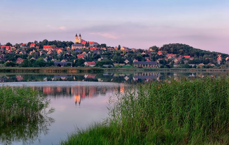 The Inner Lake of Tihany on the northern shore of Lake Balaton, Hungary