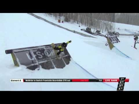 Torstein Horgmo's 2nd place run at the Burton US Open 2013 - Slopestyle Finals