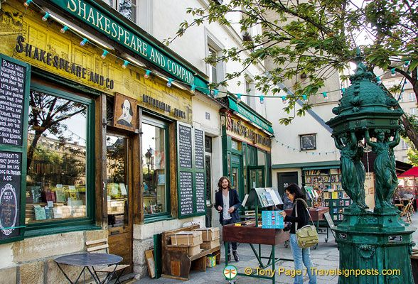 Shakespeare and Company - a very interesting bookshop in the Latin Quarter.